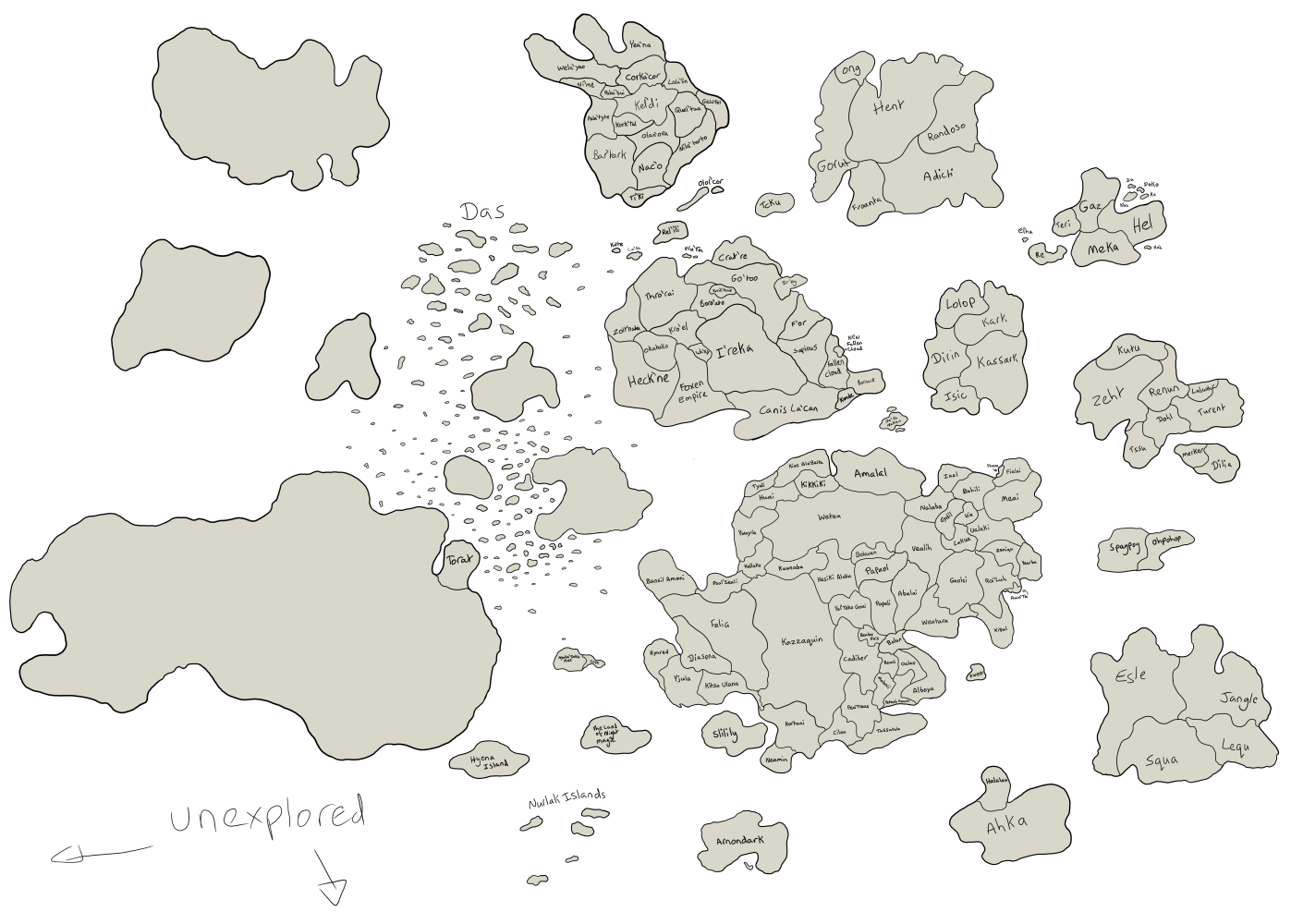 Torat's World Map