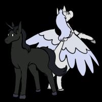 Unicorn and Pegasus Chibi